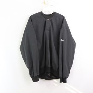 90s Nike Golf Mens Medium Windbreaker Jacket Black